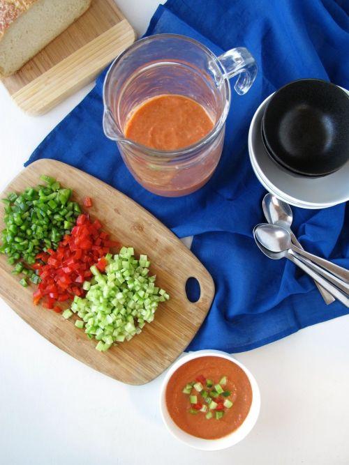 Roasted Tomato Gazpacho Soup