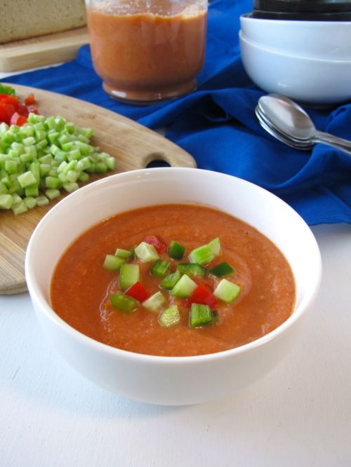 Roasted Tomato Gazpacho Soup
