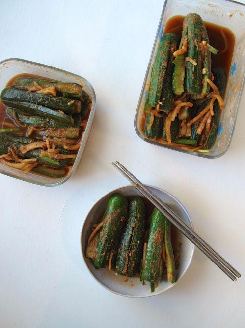 Stuffed Cucumber Kimchi (Oi Sobagi)
