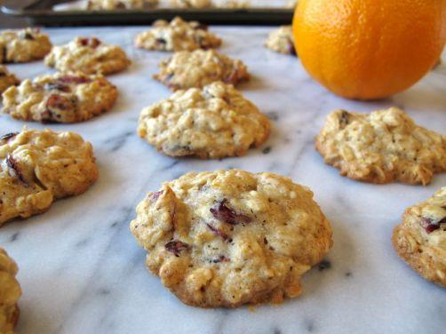 Orange Cardamom Cranberry Oatmeal Cookies