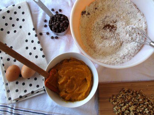 Ingredients for Pumpkin Chocolate Chip Bread