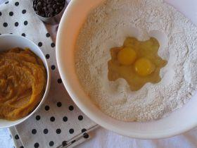 Making Pumpkin Chocolate Chip Bread