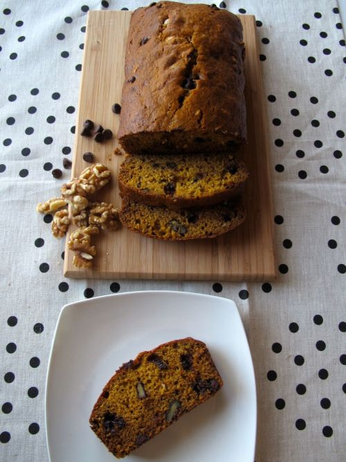 Pumpkin Walnut Chocolate Chip Bread