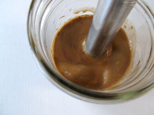 Making Balsamic Honey Vinaigrette Salad Dressing