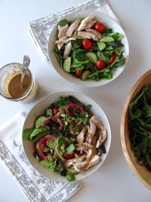 Balsamic Honey Vinaigrette and Warm Rotisserie Chicken Salad