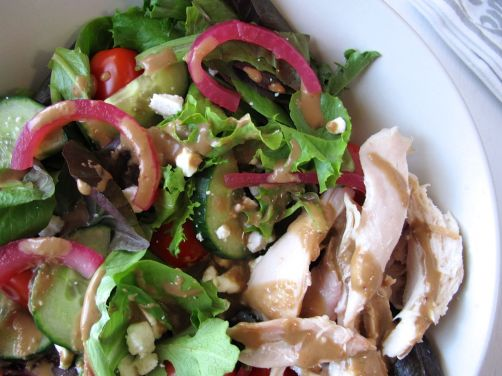 Balsamic Honey Vinaigrette and Warm Rotisserie Chicken Salad