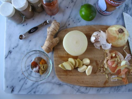 Ingredients for Easy Indian Chicken Curry
