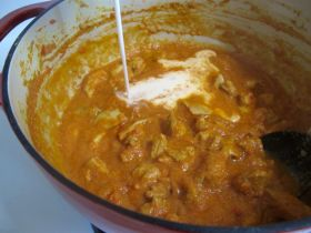 Making Easy Indian Chicken Curry with coconut milk