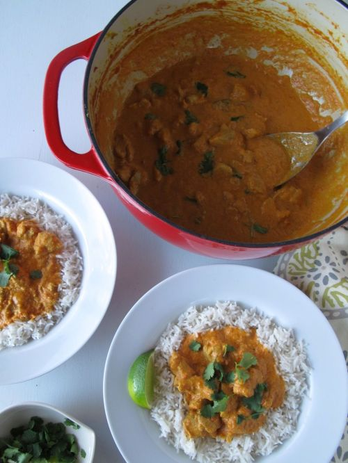 Easy Indian Chicken Curry with coconut milk