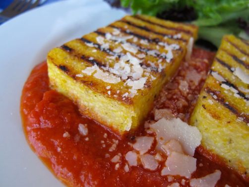Parmesan Black Pepper Grilled Polenta