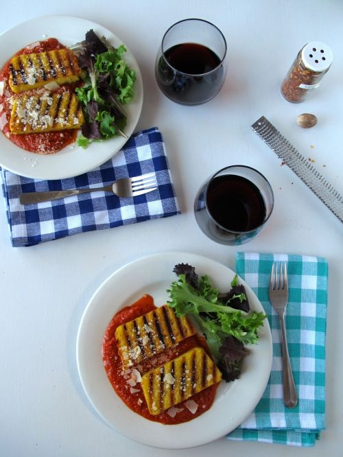 Parmesan Black Pepper Grilled Polenta
