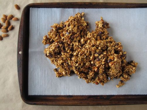 Making Almond Butter Chocolate Granola Bars
