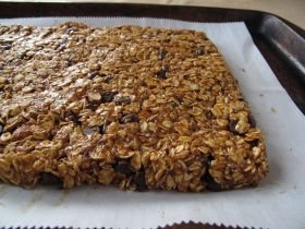 Almond Butter Chocolate Granola Bars, just before baking