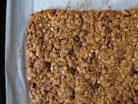 Just Baked Almond Butter Chocolate Granola Bars