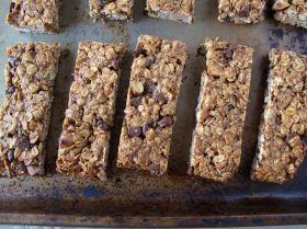 Almond Butter Chocolate Granola Bars