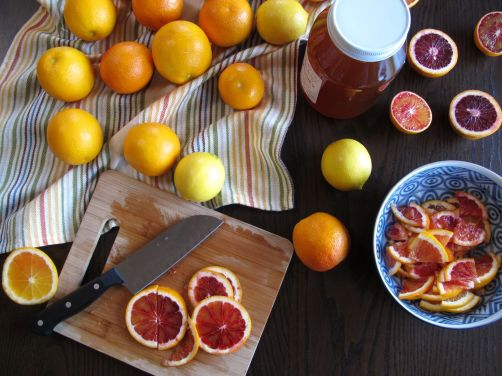 Making Yuzu-cha style Blood Orange Lemon Tea
