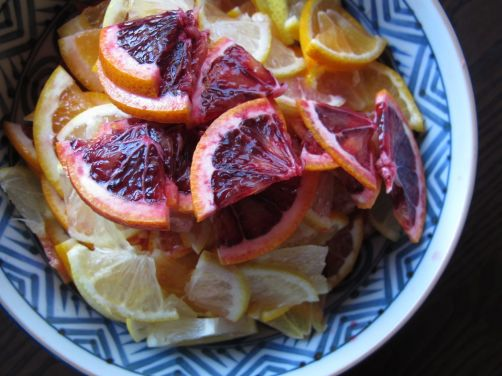 Blood Oranges and Lemons for homemade Yuzu-cha style citrus tea