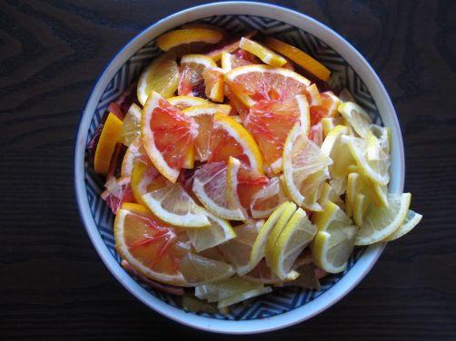 Blood Oranges and Lemons for homemade Yuzu-cha style citrus tea