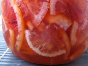 Blood Oranges and Lemons preserved in honey for homemade Yuzu-cha style tea