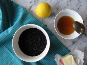 Ingredients for Black Sesame Hamantaschen Filling
