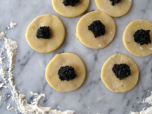 Making Black Sesame Hamantaschen