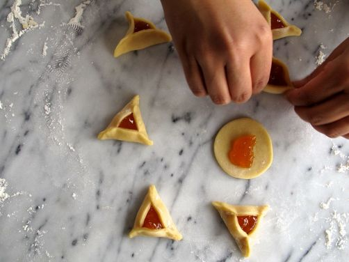Folding Apricot Hamantaschen