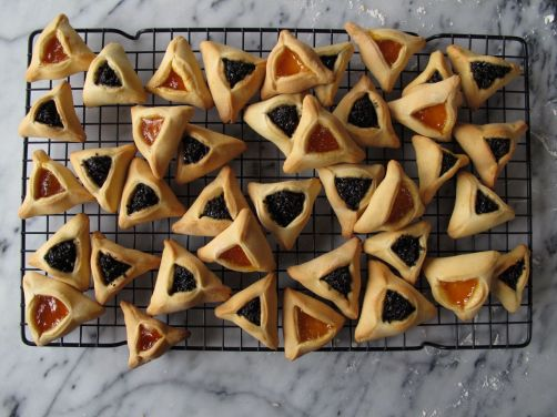 Black Sesame and Apricot Hamantaschen