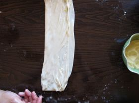 Folding Dough for Msemen - Moroccan Flatbread