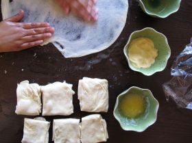 Making Msemen - Moroccan Flatbread