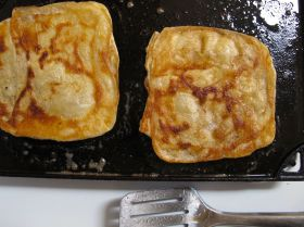 Frying Msemen - Moroccan Flatbread