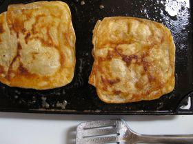 Frying Msemen - Moroccan Flatbread