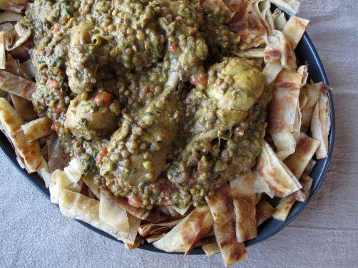 Chicken Rfissa and Msemen (Moroccan Fried Flatbread)