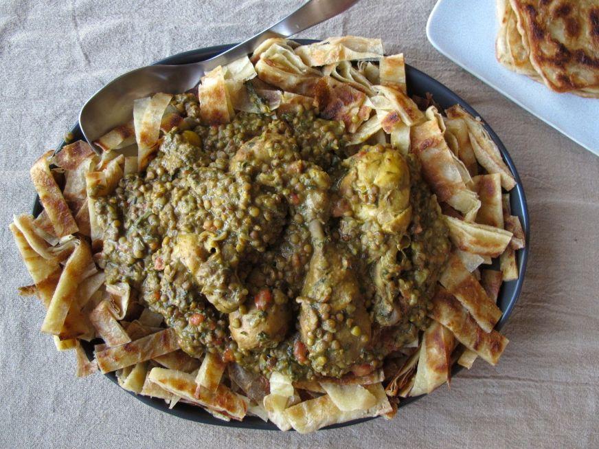 Chicken Rfissa and Msemen | spontaneous tomato
