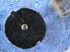 Black Sesame Seeds, ready for grinding