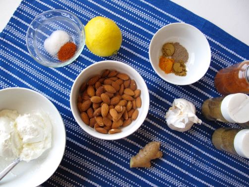 Ingredients for Nepali Spiced Almond Chicken Marinade