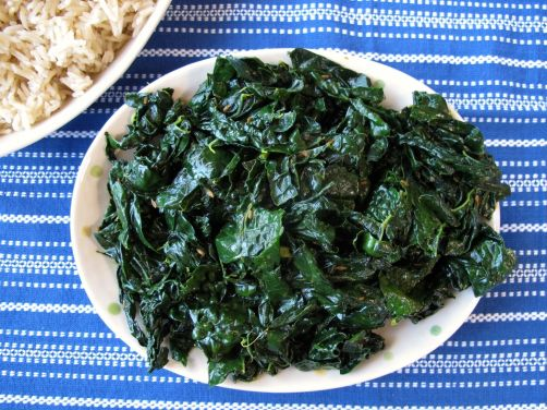 Nepali Spiced Kale or Mustard Greens