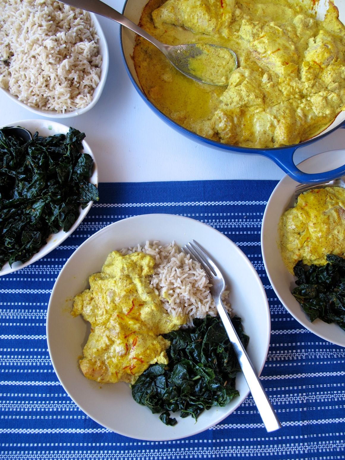 Nepali spiced almond chicken and kale spontaneous tomato nepali spiced almond chicken masaledar badami kukhura with spiced kale forumfinder Choice Image
